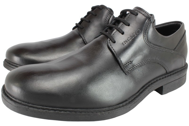 Mens Shoes Genuine Leather Black - SUGGESTED RETAIL PRICE $45.00 - WHOLESALE PRICE $8.5- Minimum purchase 11 pairs