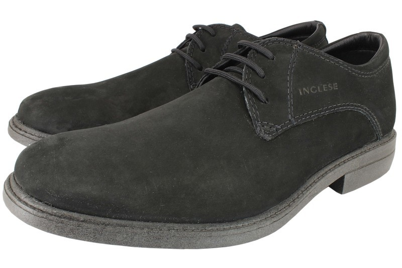 Mens Shoes Genuine Nubuck Leather Black - SUGGESTED RETAIL PRICE $45.00 - WHOLESALE PRICE $9 - Minimum purchase 6 - pairs  6 - pairs | $9 cost/pair