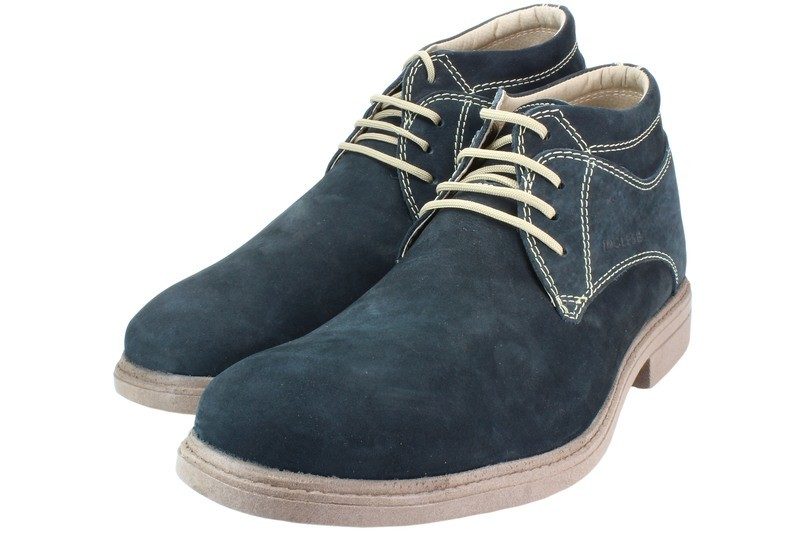 Mens Boots Genuine Nubuck Leather Blue - SUGGESTED RETAIL PRICE $45.00 - WHOLESALE PRICE $9.25 - Minimum purchase 10 pairs