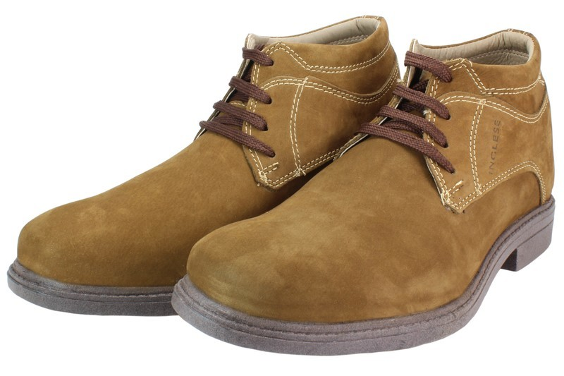 Mens Boots Genuine Nubuck Leather Light Brown - SUGGESTED RETAIL PRICE $45.00 - WHOLESALE PRICE $9.25 - Minimum purchase 11 pairs