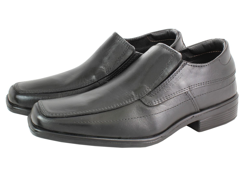 Bulk Black Leather Shoes for men - Slip on ,Napa Leather Upper, ligth Rubber Sole