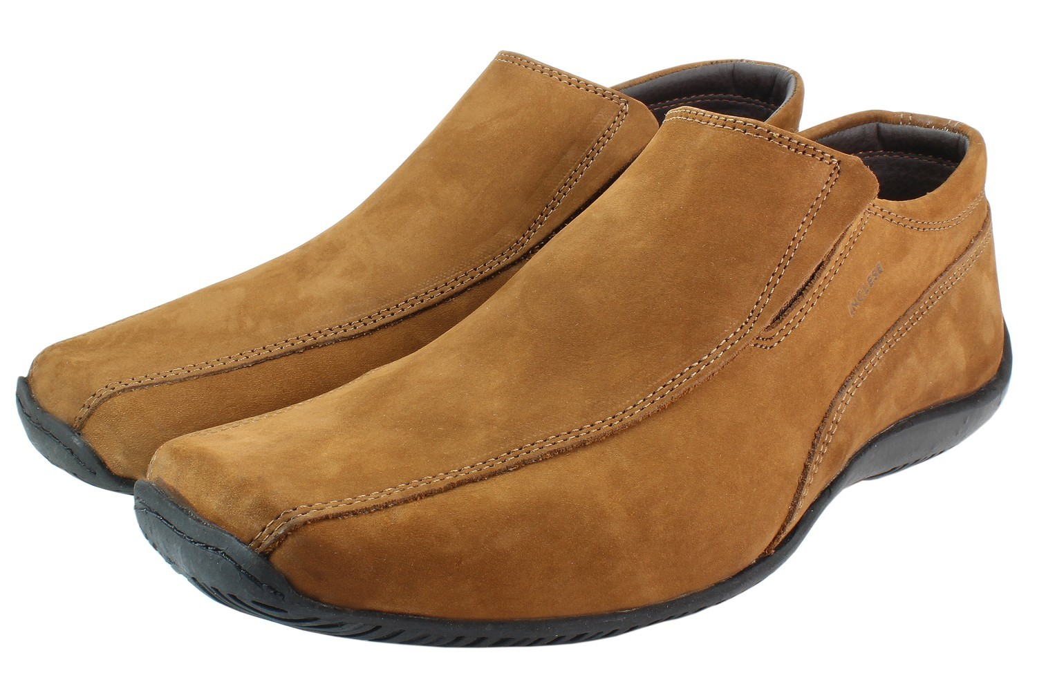 Mens Shoes Genuine Nubuck Leather Light Brown - SUGGESTED RETAIL PRICE $45 - WHOLESALE PRICE $9.5 - Minimum purchase 8 - pairs