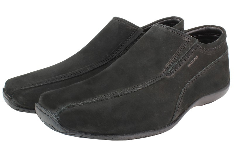 Mens Shoes Genuine Nubuck Leather Black - SUGGESTED RETAIL PRICE $45.00 - WHOLESALE PRICE $9.5 - Minimum purchase 9