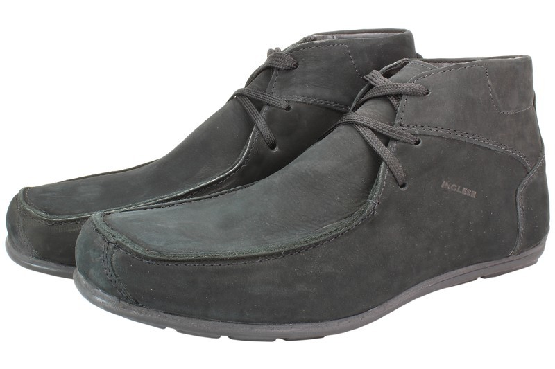 Mens Boots Genuine Nubuck Leather Black - SUGGESTED RETAIL PRICE $45.00 - WHOLESALE PRICE $8.75 - Minimum purchase 6 pairs