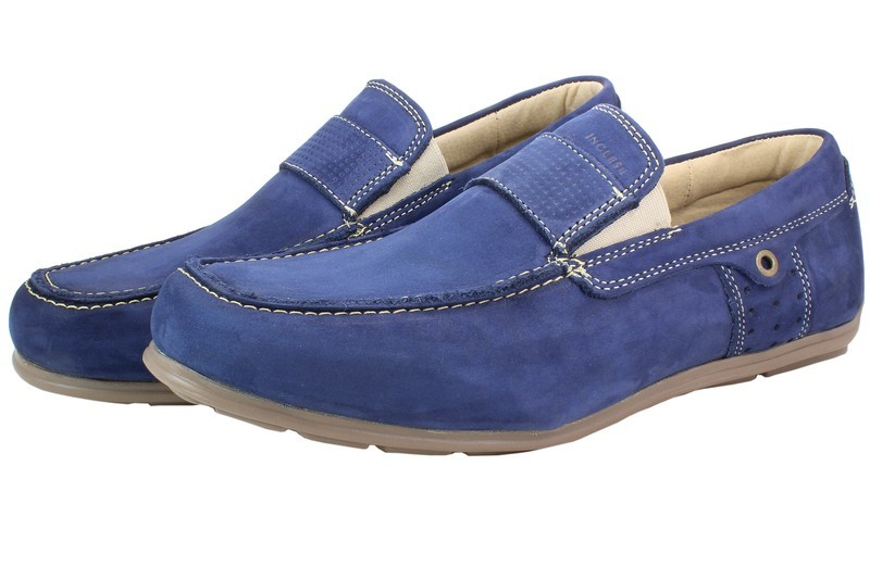 Mens Shoes Genuine Nubuck Leather Blue - SUGGESTED RETAIL PRICE $45.00 - WHOLESALE PRICE $8.5 - Minimum purchase 6pairs
