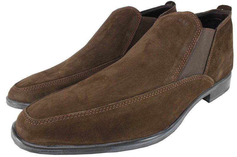 Mens Boots Genuine Nubuck Leather Brown - SUGGESTED RETAIL PRICE $45.00 - WHOLESALE PRICE $10 - Minimum purchase 11 pairs