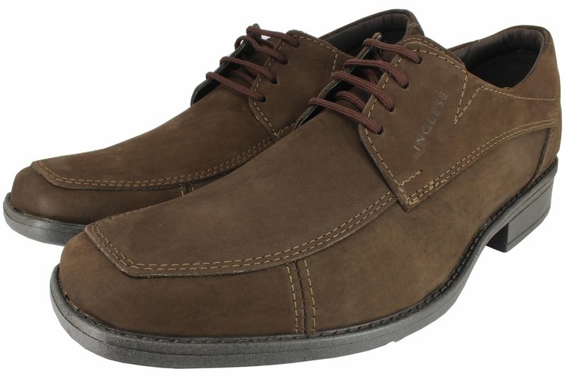 Mens Shoes Genuine Nubuck Leather Brown - SUGGESTED RETAIL PRICE $45.00 - WHOLESALE PRICE $9.5 - Minimum purchase 11 pairs