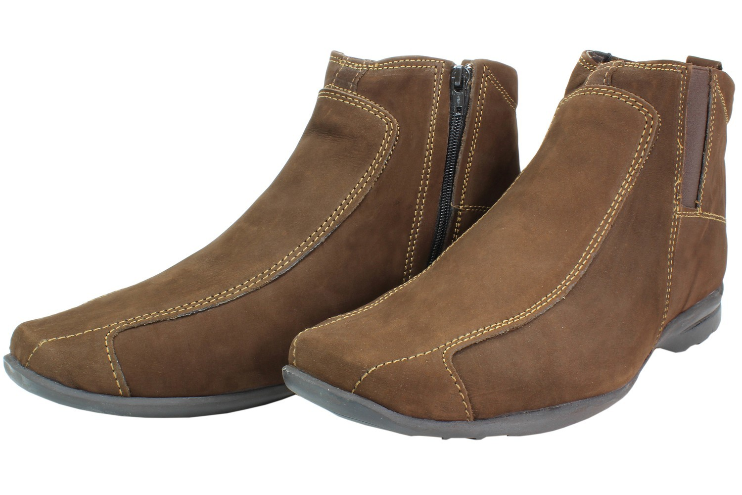 Mens Boots Genuine Nubuck Leather Brown - SUGGESTED RETAIL PRICE $45.00 - WHOLESALE PRICE $9 - Minimum purchase 9 pairs