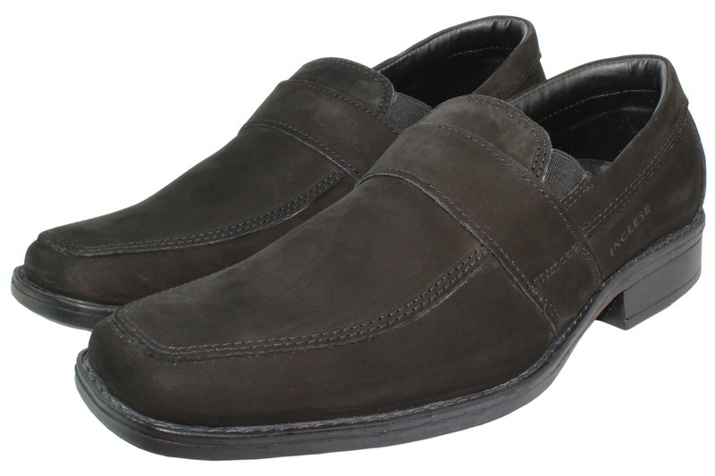 Mens Shoes Genuine Nubuck Leather Black - SUGGESTED RETAIL PRICE $45.00 - WHOLESALE PRICE $9.75 - Minimum purchase 9
