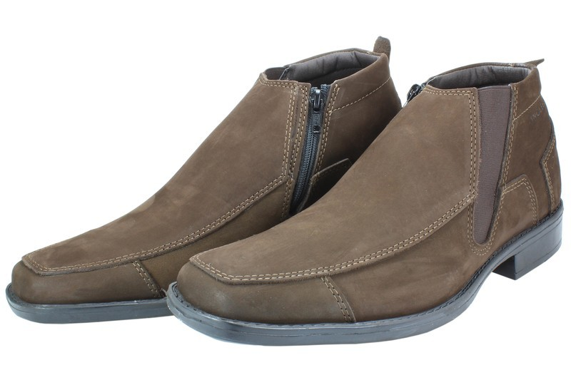 Mens Boots Genuine Nubuck Leather Brown - SUGGESTED RETAIL PRICE $45.00 - WHOLESALE PRICE $9.75 - Minimum purchase 12 pairs
