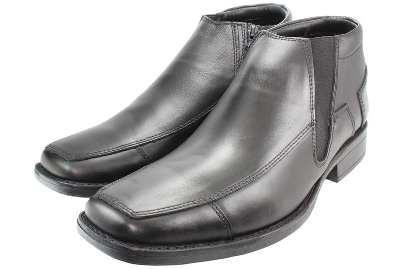 Mens Boots Genuine Leather Black - SUGGESTED RETAIL PRICE $45.00 - WHOLESALE PRICE $9.25 - Minimum purchase 11 pairs