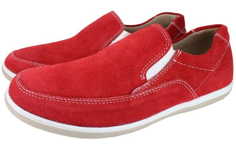 Mens Shoes Genuine Suede LeatherRed - SUGGESTED RETAIL PRICE $45.00 - WHOLESALE PRICE $8 - Minimum purchase 5pairs