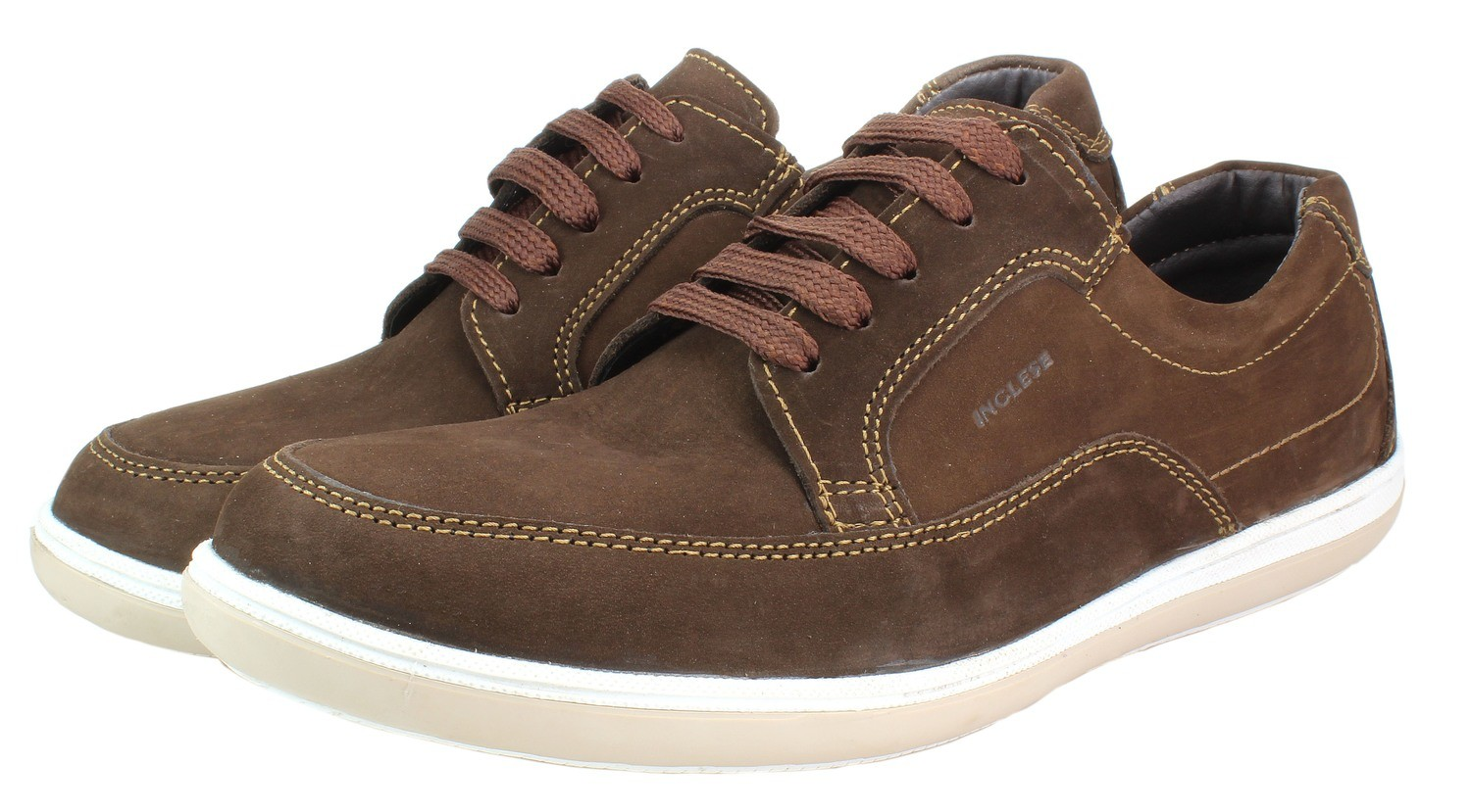 Mens Shoes Genuine Nubuck Leather Brown - SUGGESTED RETAIL PRICE $45.00 - WHOLESALE PRICE $10 - Minimum purchase 9pairs
