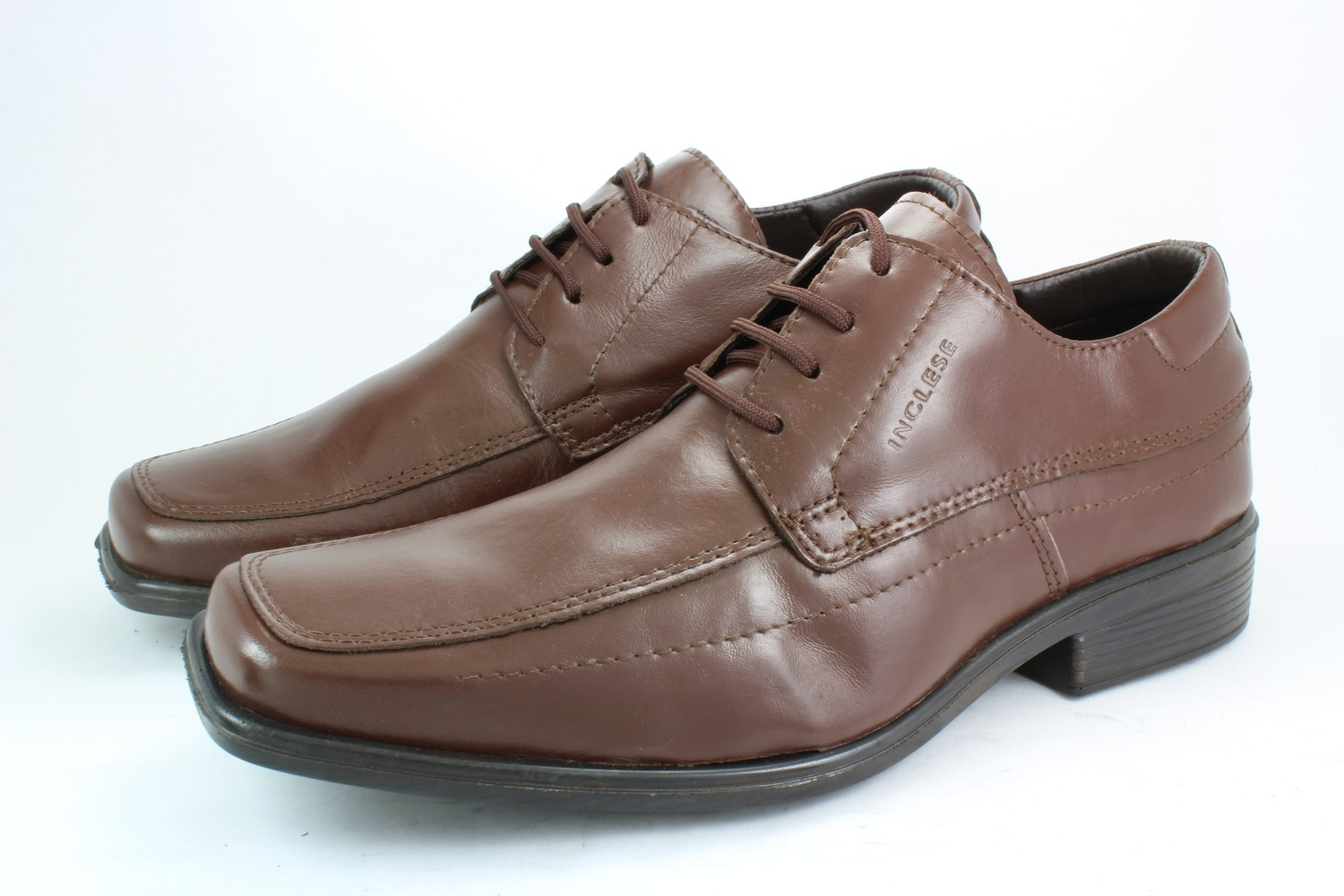 Mens Shoes Genuine Leather Brown - SUGGESTED RETAIL PRICE $45.00 - WHOLESALE PRICE $9 - Minimum purchase 5 pairs