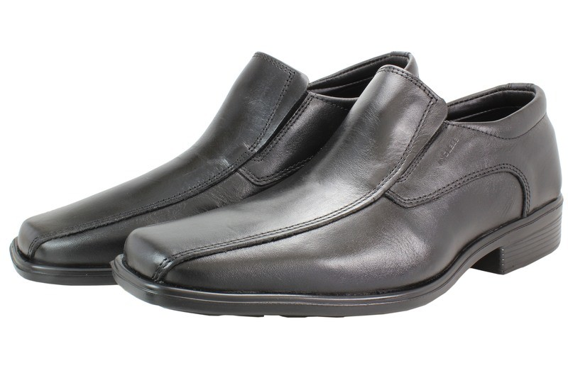 Mens Shoes Genuine Leather Black - SUGGESTED RETAIL PRICE $45.00 - WHOLESALE PRICE $9 - Minimum purchase 11 pairs