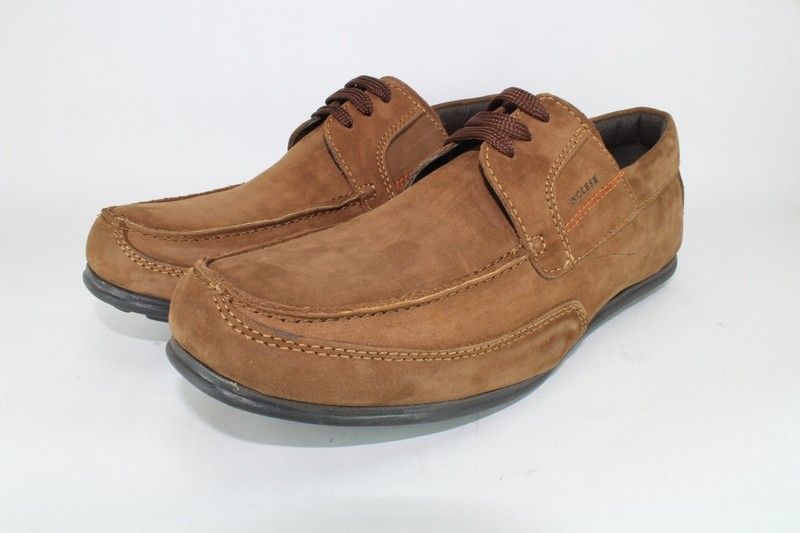 Mens Shoes Genuine Nubuck Leather Brown - SUGGESTED RETAIL PRICE $45.00 - WHOLESALE PRICE $8.5 - Minimum purchase 6pairs