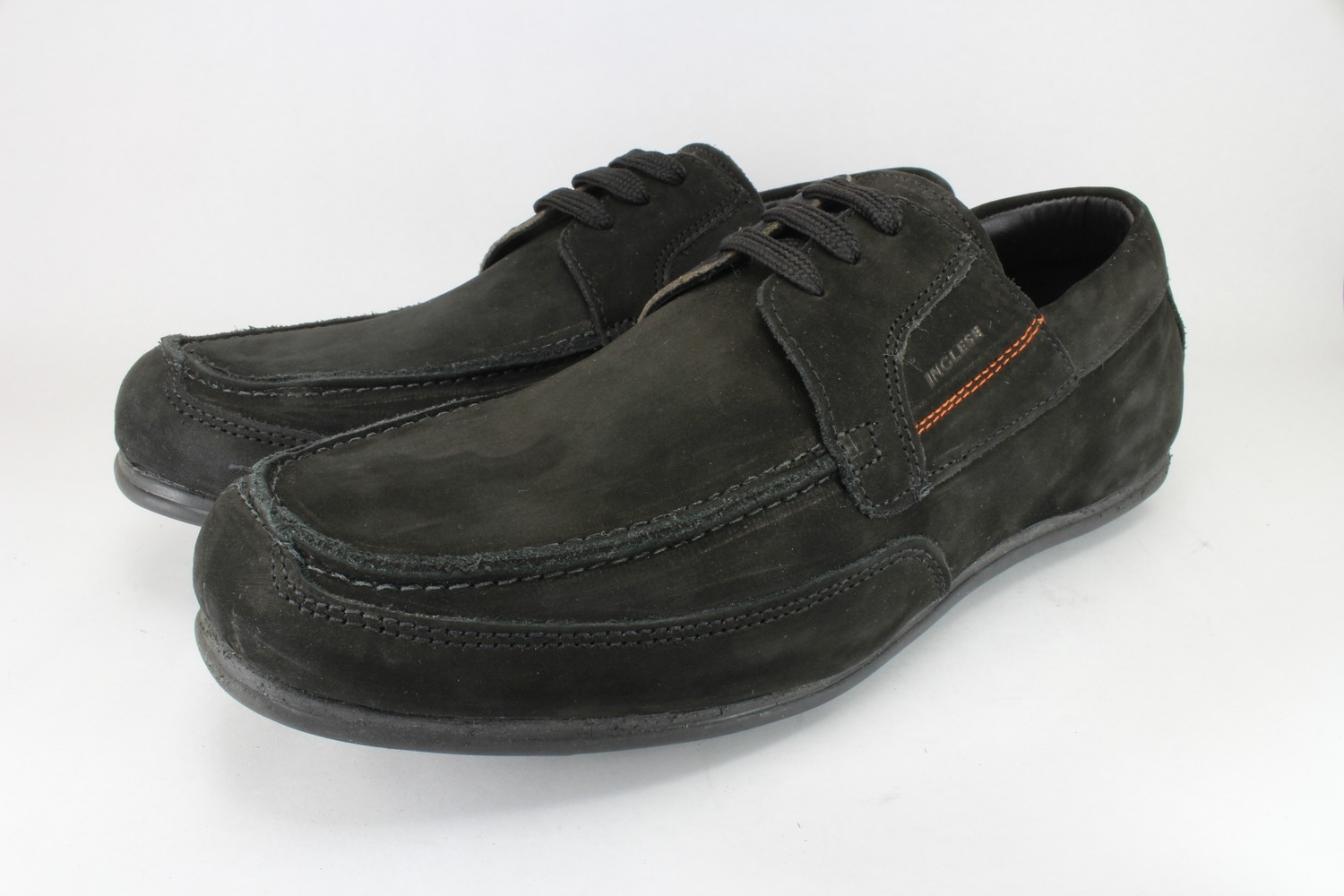 Mens SHOES Genuine Nubuck Leather Black - SUGGESTED RETAIL PRICE $45.00 - WHOLESALE PRICE $17