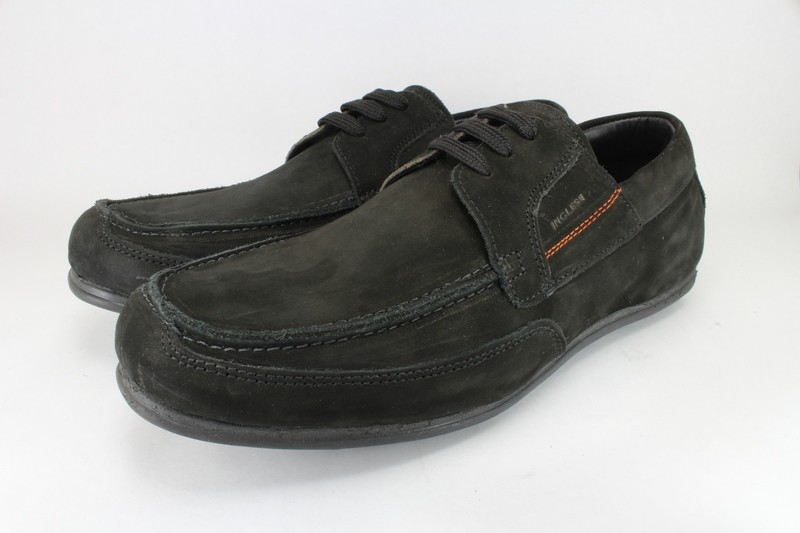 Mens Shoes Genuine Nubuck Leather Black - SUGGESTED RETAIL PRICE $45.00 - WHOLESALE PRICE $8.5 - Minimum purchase 12 - pairs