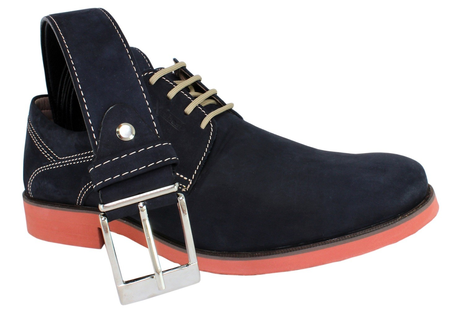 Mens Belt & Shoes Genuine Leather Blue - SUGGESTED RETAIL PRICE $75/sets - WHOLESALE PRICE $13.75/sets - Min purchase 20 sets