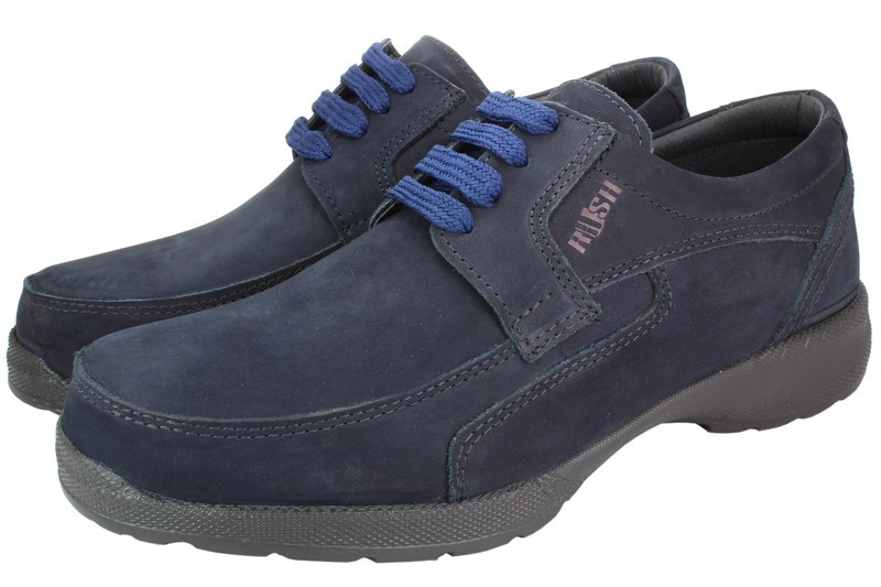 Mens Shoes Genuine Nubuck Leather Blue - SUGGESTED RETAIL PRICE $45.00 - WHOLESALE PRICE $9.5 - Minimum purchase 12pairs