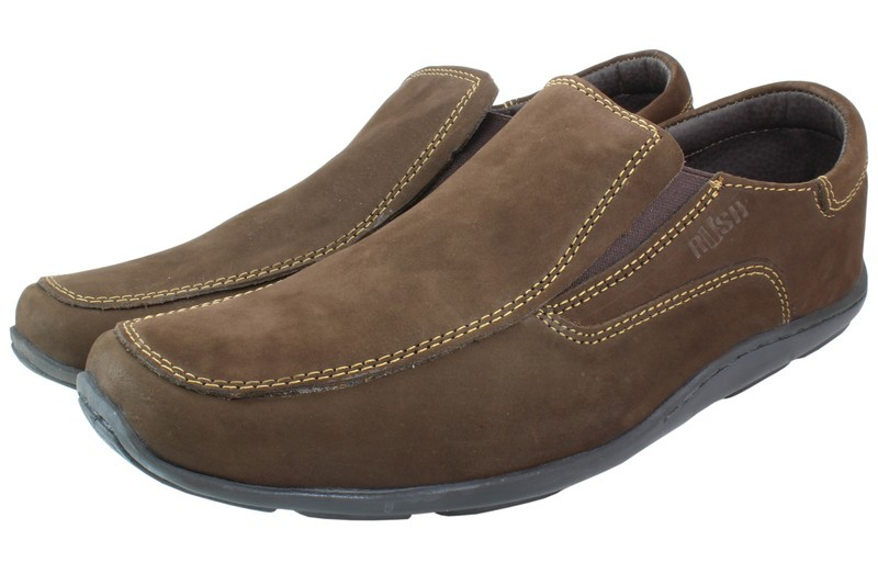 Mens Shoes Genuine Nubuck Leather Brown - SUGGESTED RETAIL PRICE $45.00 - WHOLESALE PRICE $8.5 - Minimum purchase 11pairs