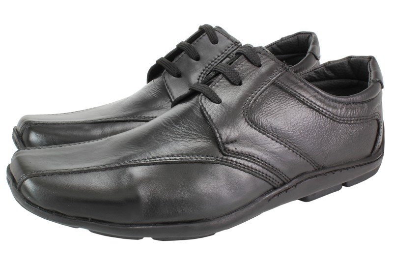 Mens Shoes Genuine Leather Black - SUGGESTED RETAIL PRICE $45.00 - WHOLESALE PRICE $8 - Minimum purchase 12 pairs