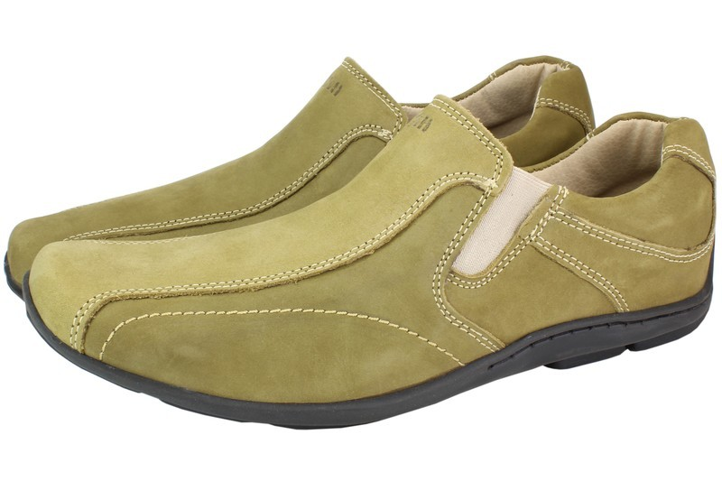Mens Shoes Genuine Nubuck Leather Beige - SUGGESTED RETAIL PRICE $45.00 - WHOLESALE PRICE $8.5 - Minimum purchase 12pairs