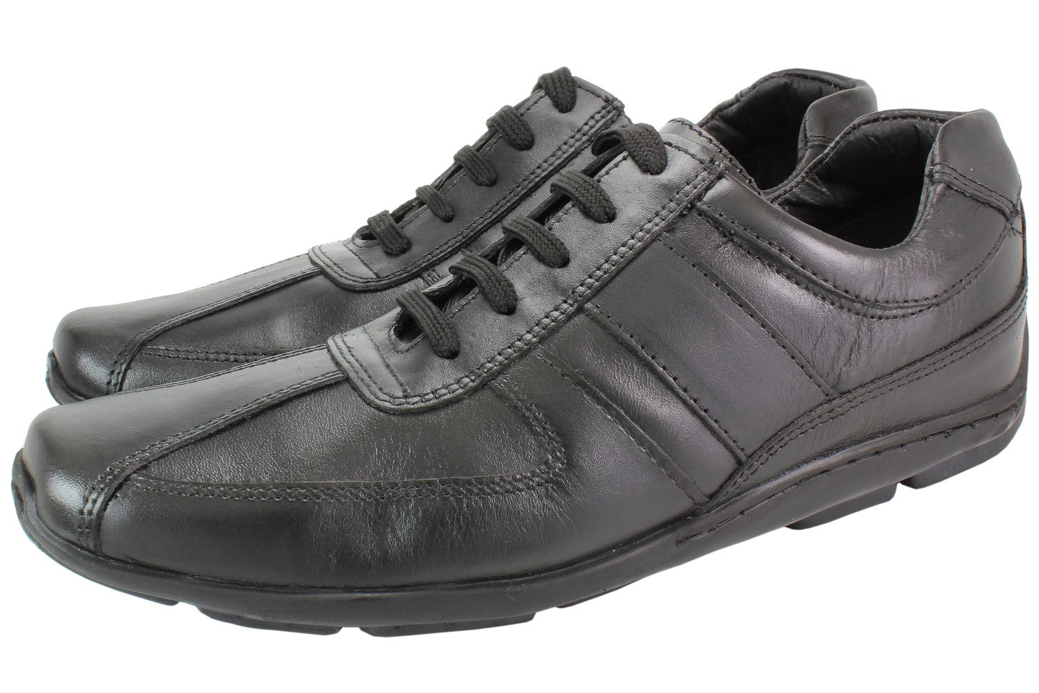 Mens Shoes Genuine LEATHER Black - SUGGESTED RETAIL PRICE $45.00 - WHOLESALE PRICE $16