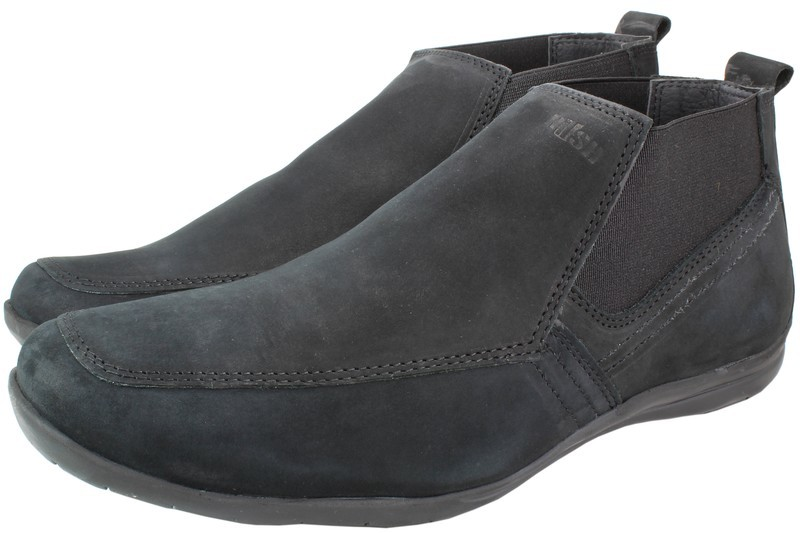 Mens Boots Genuine Nubuck Leather Black - SUGGESTED RETAIL PRICE $45.00 - WHOLESALE PRICE $8.75 - Minimum purchase 11 pairs