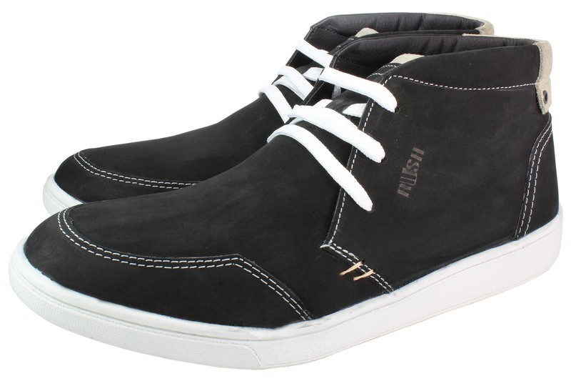 Mens Boots Genuine Nubuck Leather Black - SUGGESTED RETAIL PRICE $45.00 - WHOLESALE PRICE $8.75 - Minimum purchase 12 pairs