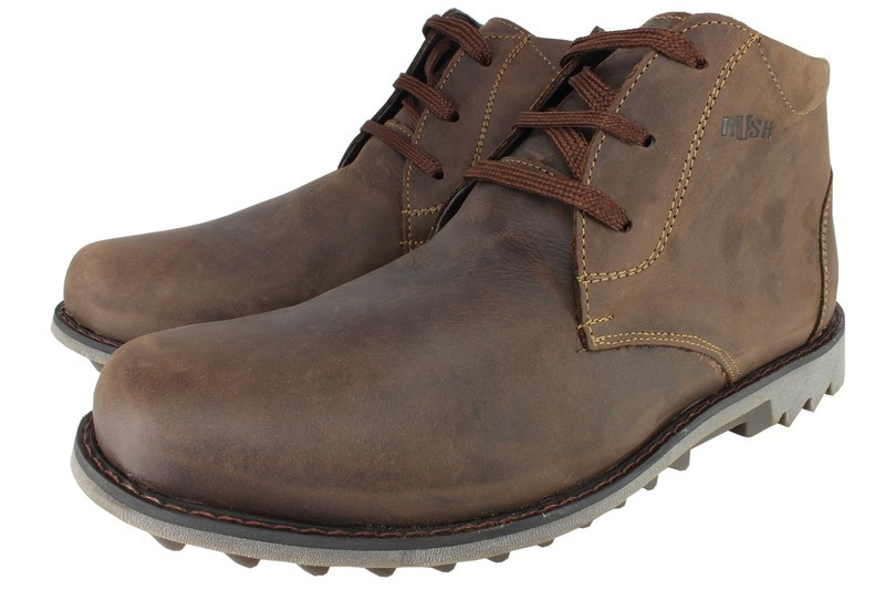 Mens Boots Genuine Oiled Leather Brown - SUGGESTED RETAIL PRICE $45.00 - WHOLESALE PRICE $10 - Minimum purchase 11 pairs