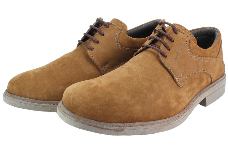 Mens Shoes Genuine Nubuck Leather Brown - SUGGESTED RETAIL PRICE $45.00 - WHOLESALE PRICE $9 - Minimum purchase 12pairs