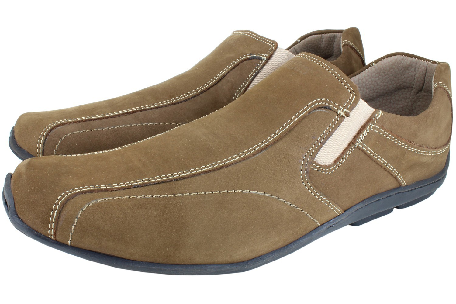 Mens Shoes Genuine Nubuck Leather Light Brown - SUGGESTED RETAIL PRICE $45 - WHOLESALE PRICE $8.5 - Minimum purchase 12 pairs