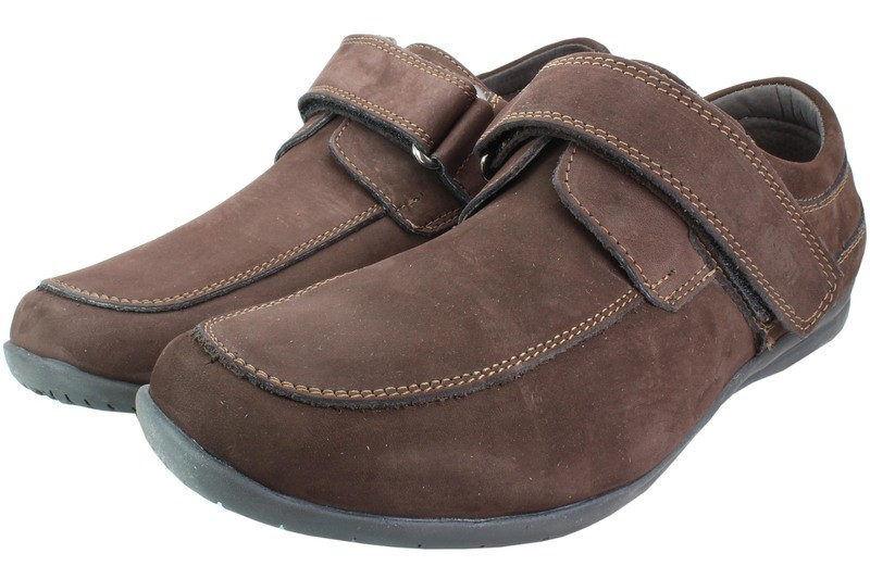 Mens Shoes Genuine Nubuck Leather Brown - SUGGESTED RETAIL PRICE $45.00 - WHOLESALE PRICE $8.5 - Minimum purchase 10pairs