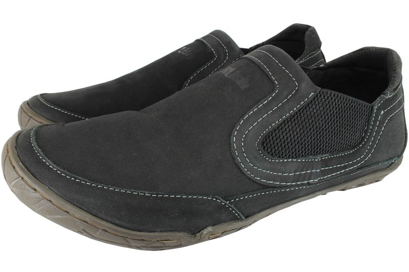 Mens Shoes Genuine Nubuck Leather Black - SUGGESTED RETAIL PRICE $45.00 - WHOLESALE PRICE $8- Minimum purchase 9 pairs