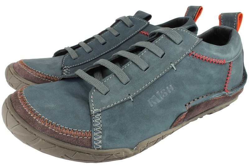Mens Shoes Genuine Nubuck Leather Blue - SUGGESTED RETAIL PRICE $45.00 - WHOLESALE PRICE $8 - Minimum purchase 11pairs