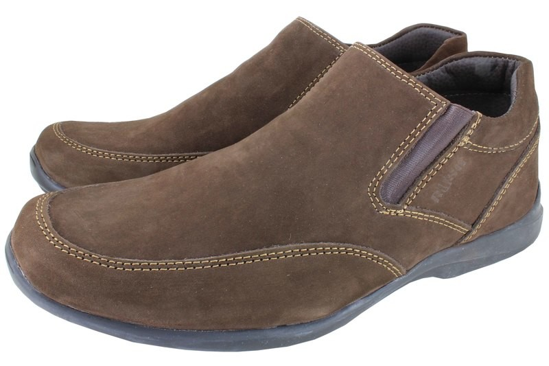 Mens Shoes Genuine Nubuck Leather Brown - SUGGESTED RETAIL PRICE $45.00 - WHOLESALE PRICE $10 - Minimum purchase 12pairs