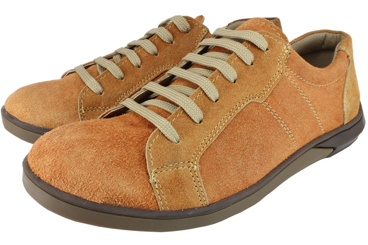 Mens Shoes Genuine Suede Leather Light Brown - SUGGESTED RETAIL PRICE $45 - WHOLESALE PRICE $7 - Minimum purchase 12 pairs