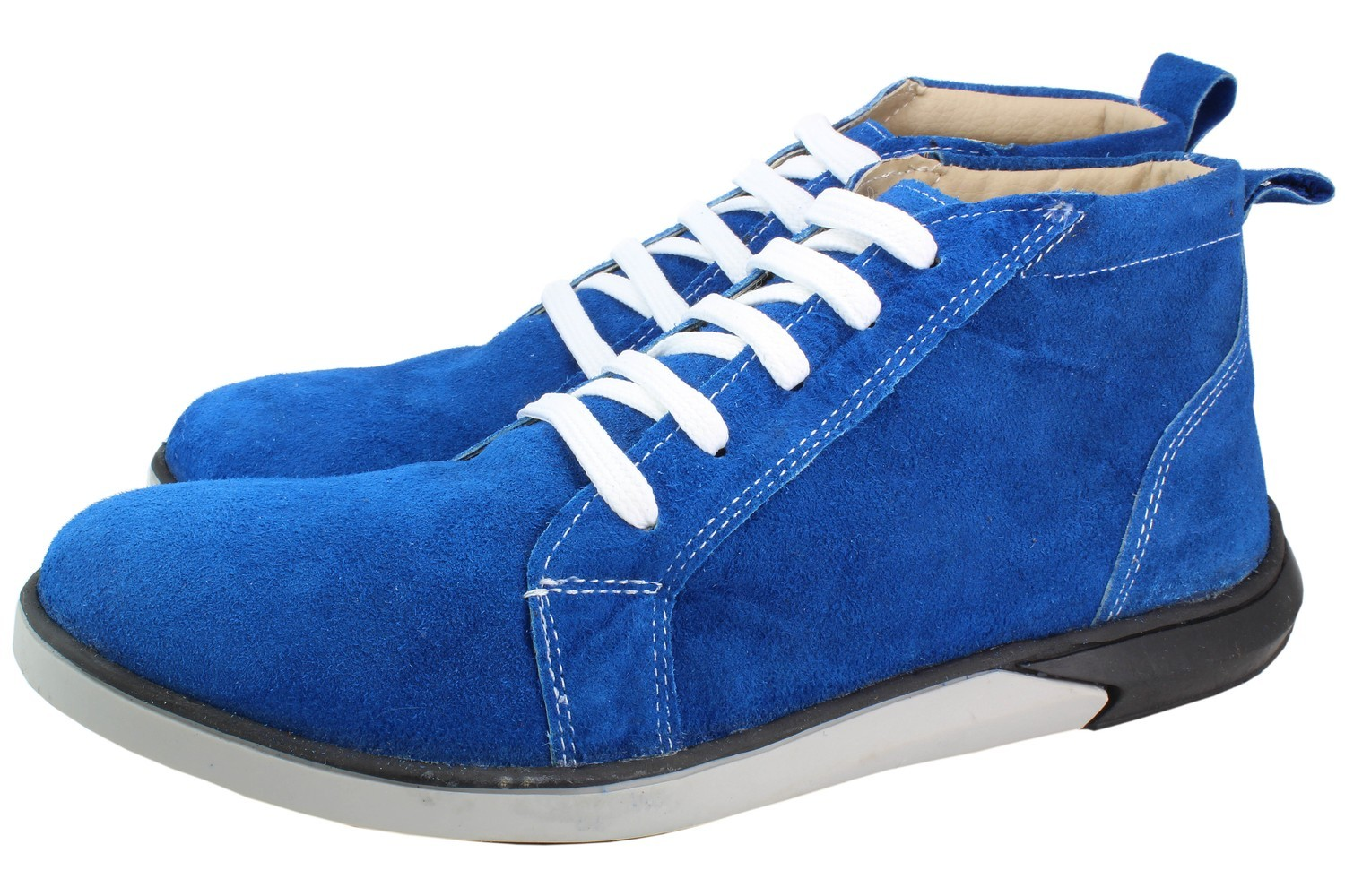 Mens Boots Genuine Suede Leather Blue - SUGGESTED RETAIL PRICE $45.00 - WHOLESALE PRICE $7.25 - Minimum purchase 11pairs