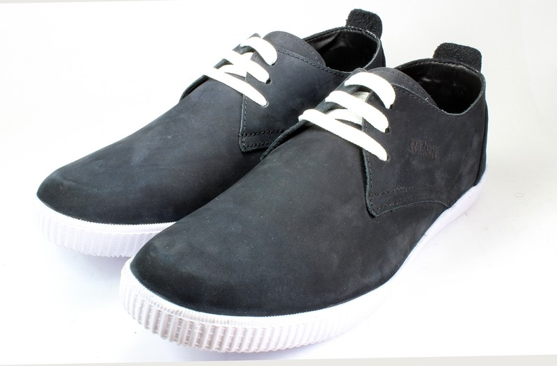 Mens Shoes Genuine Nubuck Leather Blue - SUGGESTED RETAIL PRICE $45.00 - WHOLESALE PRICE $8.5 - Minimum purchase 12pairs