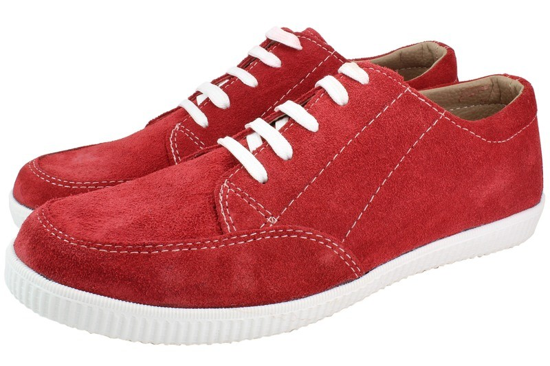 Mens Shoes Genuine Suede Leather Red - SUGGESTED RETAIL PRICE $45.00 - WHOLESALE PRICE $8 - Minimum purchase 12pairs