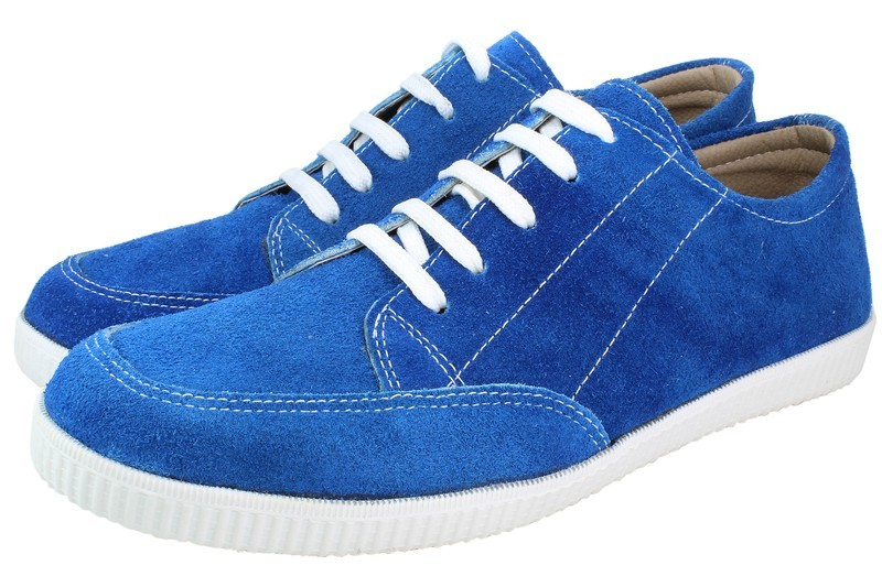 Mens Shoes Genuine Suede Leather Blue - SUGGESTED RETAIL PRICE $45.00 - WHOLESALE PRICE $7 - Minimum purchase 11pairs