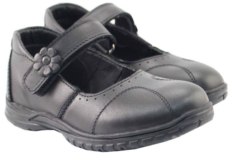 Girls Shoes Genuine Leather Black - SUGGESTED RETAIL PRICE $30.00 - WHOLESALE PRICE $6.5 - Minimum purchase 10 - pairs