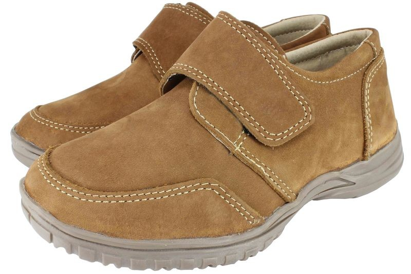Boys Shoes Genuine Nubuck Leather Light Brown - SUGGESTED RETAIL PRICE $30 - WHOLESALE PRICE $7.5 - Minimum purchase 10 pairs