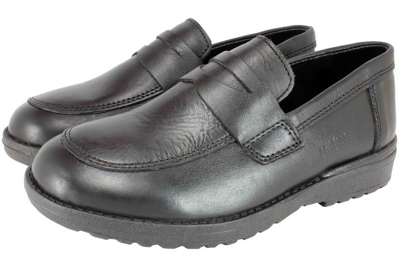 Bulk  Black Shoes For Boys, Napa Soft Leather, Soft Insole, Slip- on ,Rubber Sole