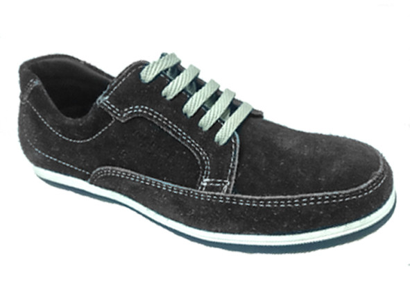 Mens Shoes Genuine Nubuck Leather Black - SUGGESTED RETAIL PRICE $45.00 - WHOLESALE PRICE $10 - Minimum purchase 11 - pairs   $10 cost/pair