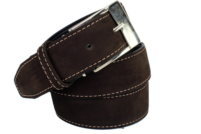 Mens Belts Genuine Leather Brown 1 1/4 Wide - SUGGESTED RETAIL PRICE $30 - WHOLESALE PRICE $16. Minimum purchase 6 units