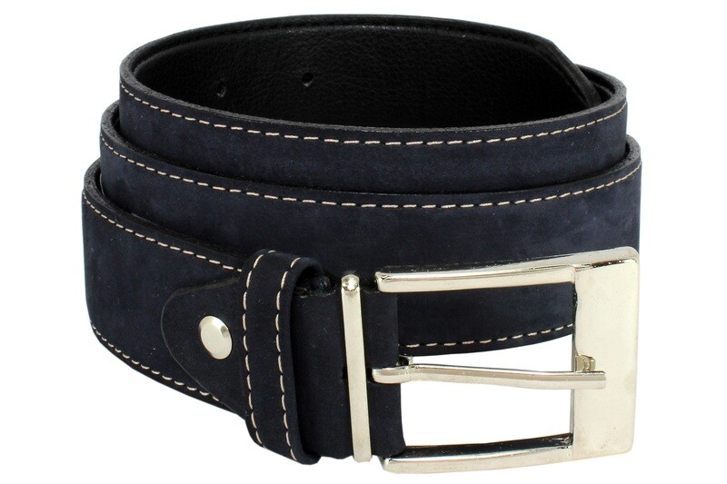Mens Belts Genuine Leather Blue 1 1/4 Wide - SUGGESTED RETAIL PRICE $30 - WHOLESALE PRICE $16. Minimum purchase 6 units