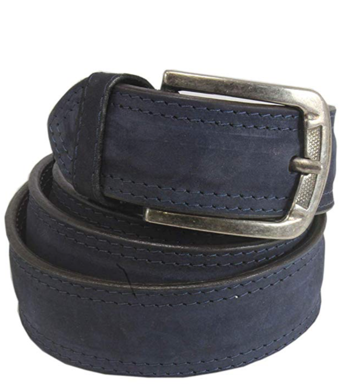 Mens Belts Genuine Leather Blue 1 1/3 Wide - SUGGESTED RETAIL PRICE $30 - WHOLESALE PRICE $16. Minimum purchase 6 units