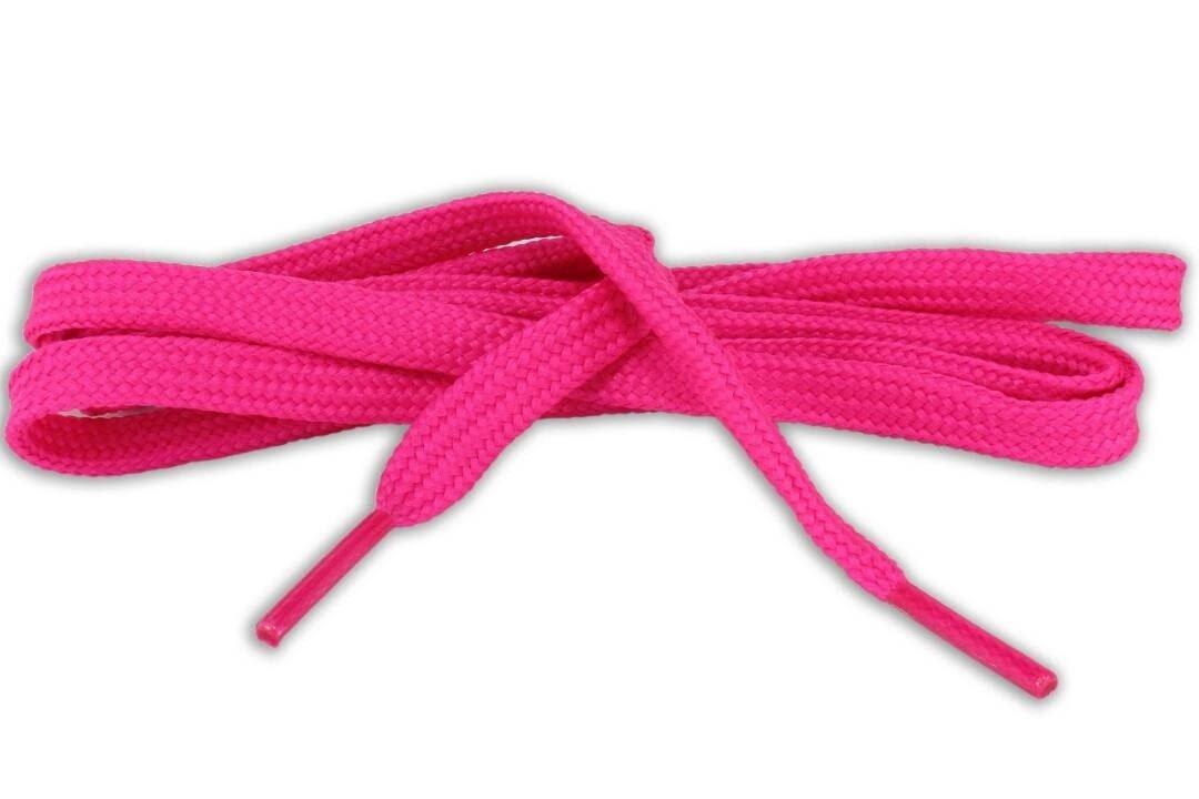 Flat Shoe Laces for SNEAKERS color fushia phosphorescent